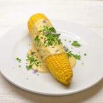 Kukurūzai su alaus-sūrio padažu